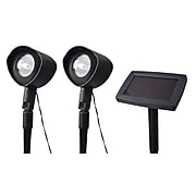 Moonrays 93382 Solar Powered Spotlights with Remote Solar Panel, 2-Pack