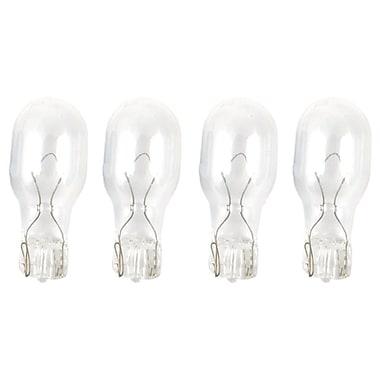 Moonrays 95503 4-Watt 12-Volt Wedge Base Replacement Light Bulb, 4-Pack, Clear Glass