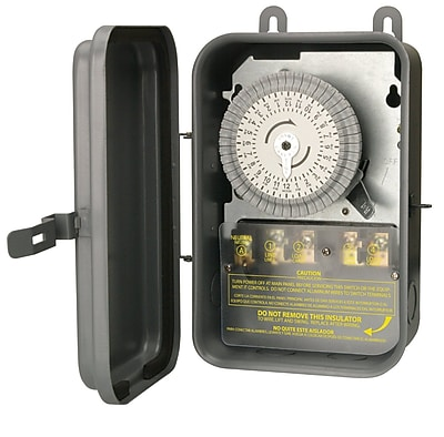 Woods 59104R 208-277-Volt DPST 24-Hour Mechanical Time Switch, 40-Amp, Outdoor