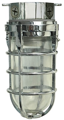 Woods L1706CH Traditional 100W Incandescent Weather Industrial Light, Ceiling Mount, Chrome
