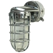 Woods L1707SVCH Traditional 100W Incandescent Weather Industrial Light, Wall Mount, Chrome
