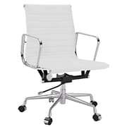 Manhattan Comfort  Ellwood Mid-Back Adjustable Office Chair in White(MC-614-WH)