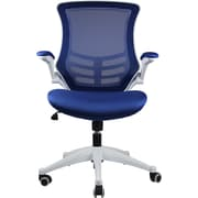 Manhattan Comfort Lenox Mesh Computer and Desk Office Chair, Adjustable Arms, Royal Blue (MC-624)