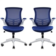 Manhattan Comfort Lenox Mesh Adjustable Office Chair in Royal Blue- Set of 2(MC-624-B)