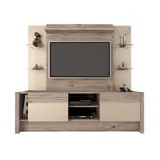 Manhattan Comfort Morning Side Freestanding Theater Entertainment Center in Nature and Nude(22955)