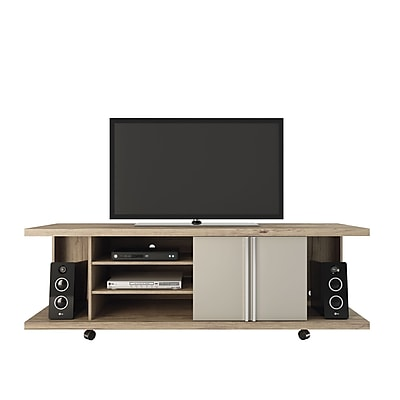 Manhattan Comfort Carnegie TV Stand in Nature and Nude(14555) 2095065