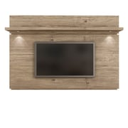 Manhattan Comfort Park 1.8 Floating Wall TV Panel with LED Lights in Nature(81461)