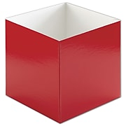 "Clay Coat News Back 6""H x 6""W x 6""L Solid Gift Boxes, Red, 50/Pack"