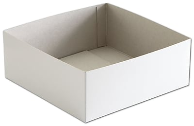 "Clay Coat News Back 3""H x 8""W x 8""L Solid Gift Boxes, White, 50/Pack"
