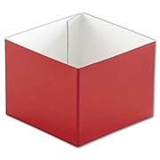 "Clay Coat News Back 3""H x 4""W x 4""L Solid Gift Boxes Bottoms, Red, 50/Pack"