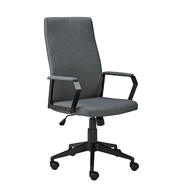 Brassex 2840-GR Office Chair with Gas Lift and Tilt Mechanism, Grey, 23
