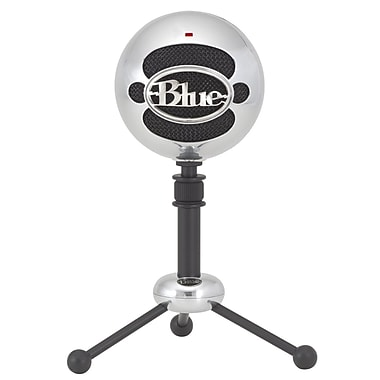 Blue Snowball USB Condenser Microphone with Accessory Pack, Brushed Aluminum