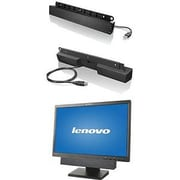 Lenovo 0A36190 USB Soundbar Add Stereo Audio without Sacrificing Desk Space