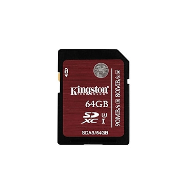 Kingston Digital 64GB SDXC UHS-I Speed Class 3 Flash Card