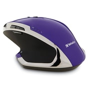 Verbatim 99020 Wireless Desktop 8-Button Deluxe Blue LED Mouse, Purple (99020)