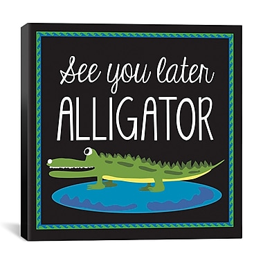 iCanvas 'Alligator' by Erin Clark Graphic Art on Canvas; 18'' H x 18'' W x 1.5'' D