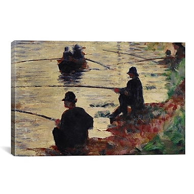 iCanvas 'Anglers' by Georges Seurat Painting Print on Canvas; 18'' H x 26'' W x 1.5'' D