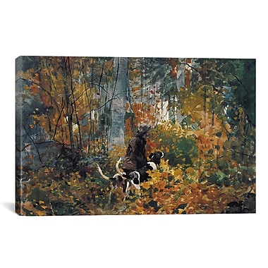 iCanvas 'On the Trail 1892' by Winslow Homer Painting Print on Canvas; 40'' H x 60'' W x 1.5'' D