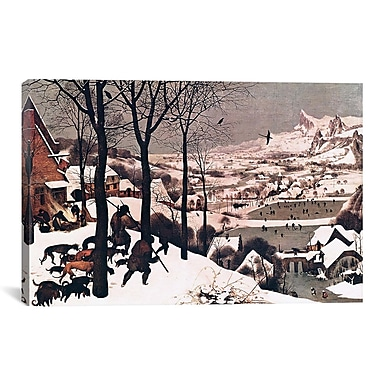 iCanvas 'Hunters in The Snow' by Pieter Bruegel Painting Print on Canvas; 18'' H x 26'' W x 1.5'' D