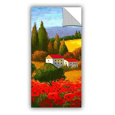 ArtWall Tuscan Poppies I Wall Mural; 48'' H x 24'' W x 0.1'' D