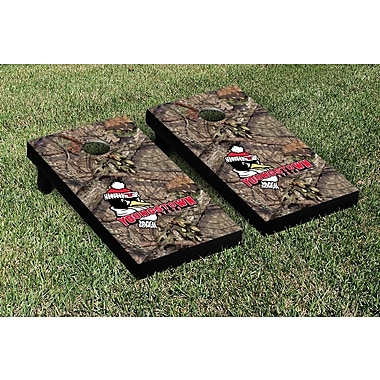 Victory Tailgate NCAA Mossy Oak Version Cornhole Game Set; Youngstown State Penguins