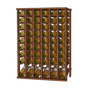 Wineracks.com Premium Cellar Series 60 Bottle Floor Wine Rack; Mahogany