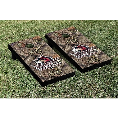 Victory Tailgate NCAA Mossy Oak Version Cornhole Game Set; Indiana East Red Wolves