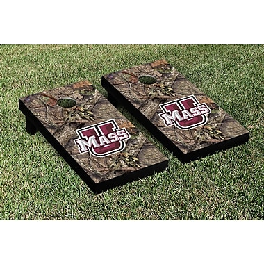 Victory Tailgate NCAA Mossy Oak Version Cornhole Game Set; Massachusetts UMASS Minutemen