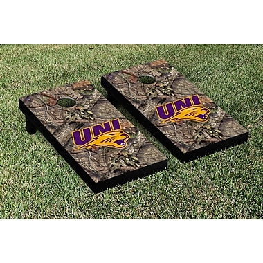 Victory Tailgate NCAA Mossy Oak Version Cornhole Game Set; Northern Iowa UNI Panthers