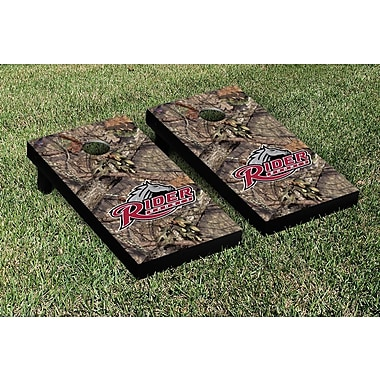 Victory Tailgate NCAA Mossy Oak Version Cornhole Game Set; Rider Broncs