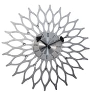 Mid Century Decor Sunflower 20'' Clock