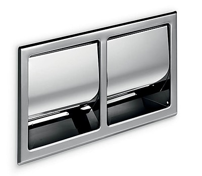 WS Bath Collections Hotellerie Recessed Double Toilet Paper Holder w/ Cover