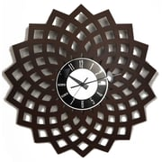 Mid Century Decor 20'' Kaleidoscopic Petal Clock; Black