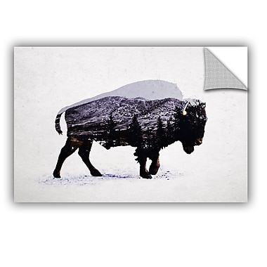 ArtWall The American Bison Wall Mural; 24'' H x 36'' W x 0.1'' D