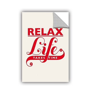ArtWall Relax Life Takes Time Wall Mural; 48'' H x 32'' W x 0.1'' D