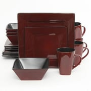 Gibson® Elite Kiesling Stoneware 16-Piece Dinnerware Set, Red, 107278.16