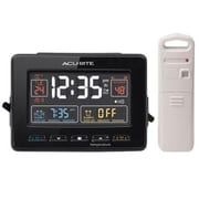 "Chaney Instruments Acurite® Indoor/Outdoor 4.3""H x 6""W x 2.2""D Digital Dual Alarm Atomic Clock (13022)"