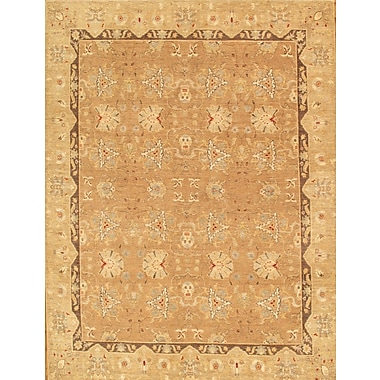 Pasargad Ferehan Hand-Knotted Light Brown Area Rug