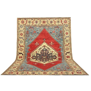 Pasargad Serapi Hand-Knotted Rust Area Rug; 9'5'' x 13'11''