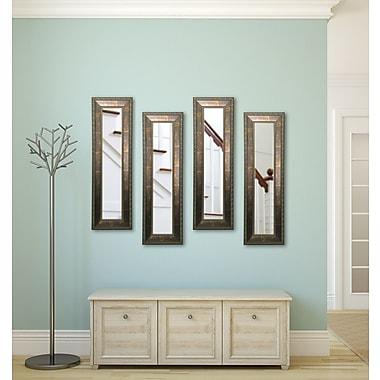 Rayne Mirrors Molly Dawn Rayne Roman Copper Bronze Mirror Panels (Set of 4); 11.5 X 39.5