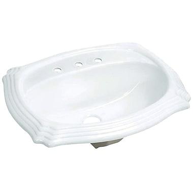 Kingston Brass Heritage Vitreous China Rectangular Drop-In Bathroom Sink w/ Overflow
