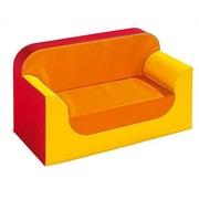 Wesco NA New Club Series Seat Kids Bench; Beige/Orange