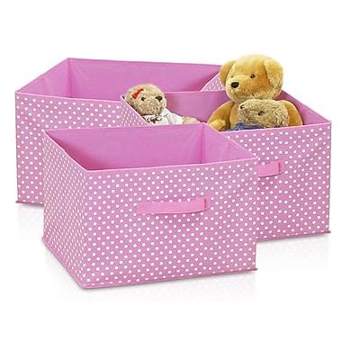 Furinno Laci Soft Storage Organizer (Set of 3); Pink