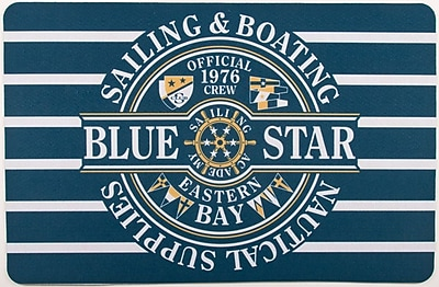 Island Girl Home Nautical Star Sailing Floor Mat