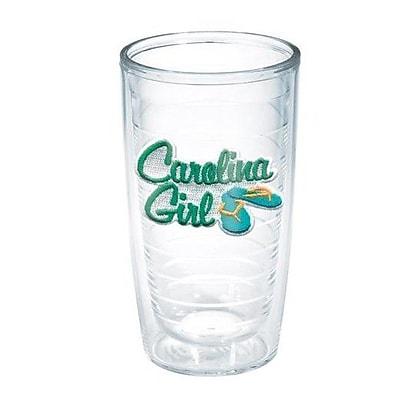 Tervis Tumbler American Pride Carolina Girl 16 oz. Plastic Every Day Glass
