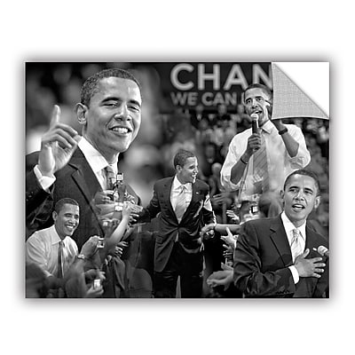 ArtWall Obama Collage by Antonio Raggio Art Appeelz Removable Wall Mural; 14'' H x 18'' W x 0.1'' D