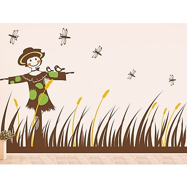 Pop Decors Scarecrow and Grass Wall Decal
