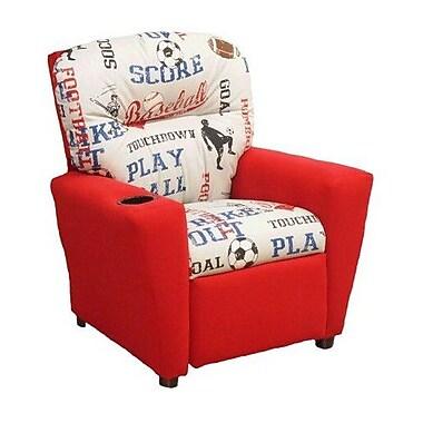 Brazil Furniture Chilli Kids Recliner w/ Cup Holder