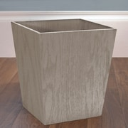 LaMont Meadow Wood Trash Can; Gray