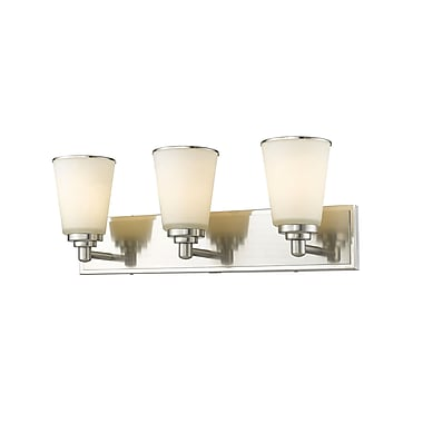 Z-Lite Jarra 3-Light Vanity Light; Brushed Nickel